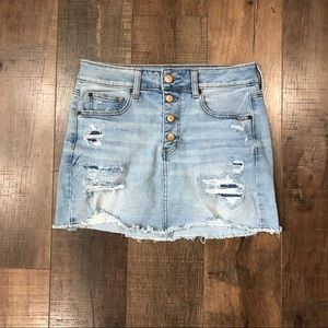 American Eagle High Rise Denim Skirt